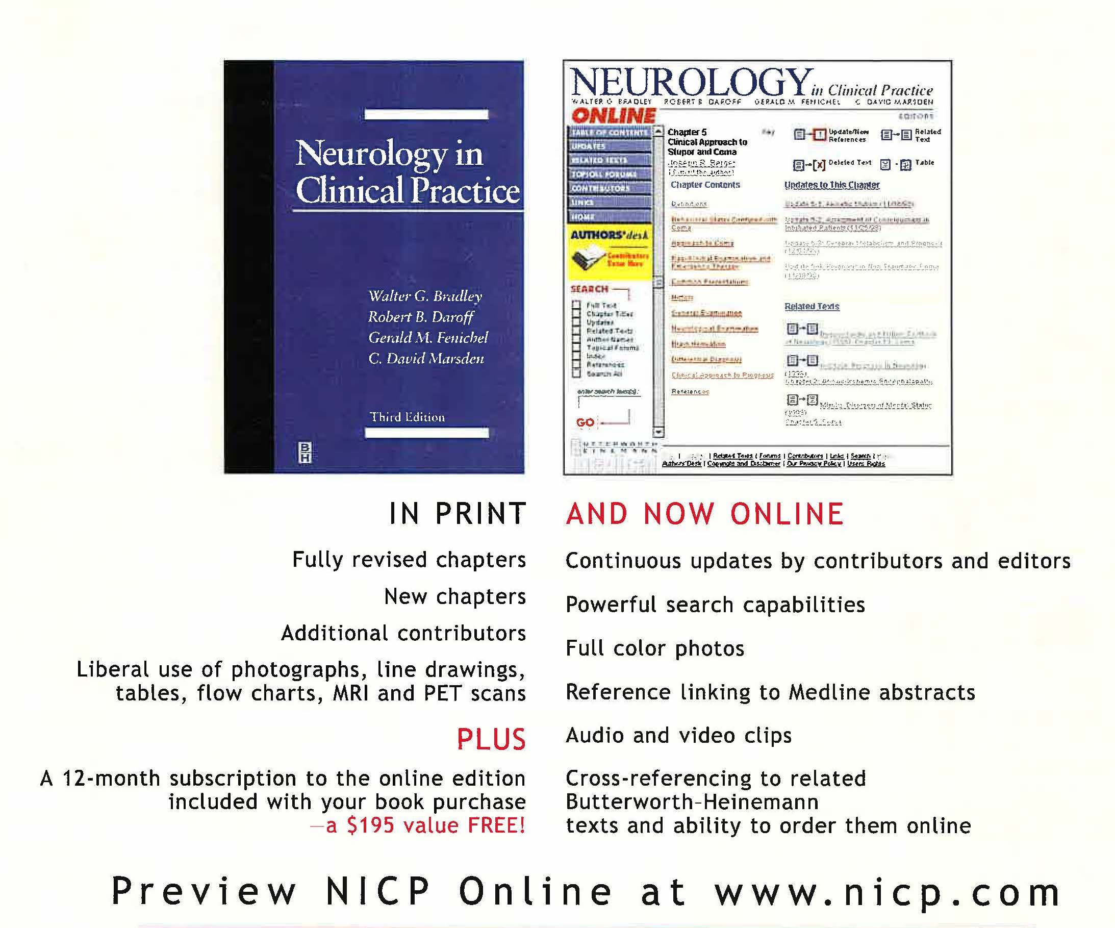 Neurology in Clinical Practice print and online editions ad