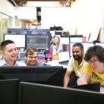 Developers at computer